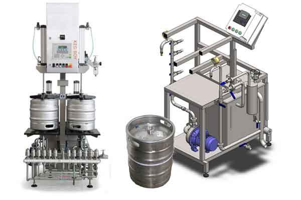 Filling beer into kegs