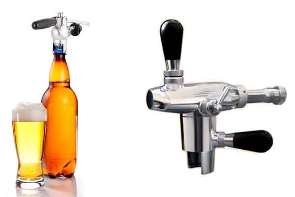 Filling beer into PET bottles