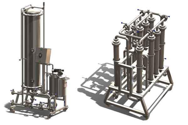 Beer filtration equipment