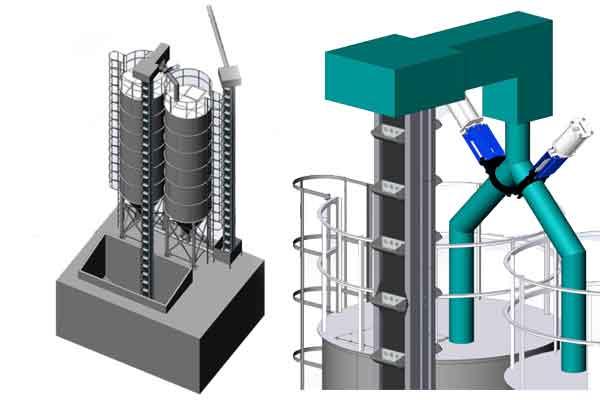 Malt storage silos