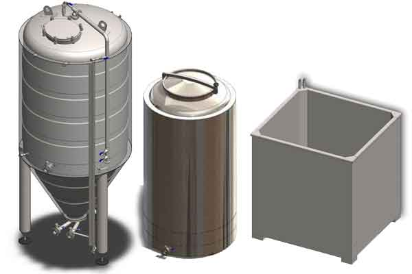 Tanks for the primary fermentation
