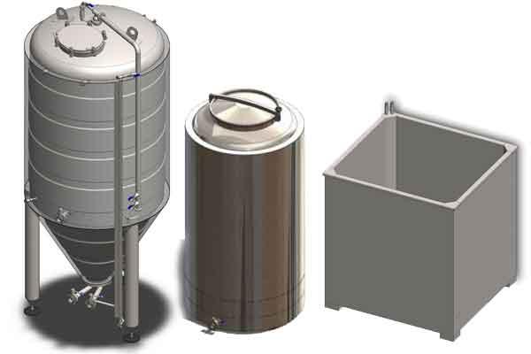 Nádrže pro primární fermentaci