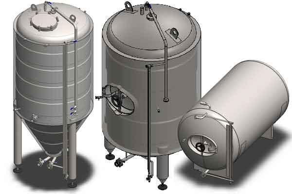 Secondary fermentation tanks