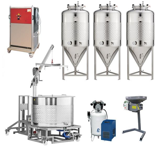 Пивоварни BREWMASTER 201 с ферментатори 200 L