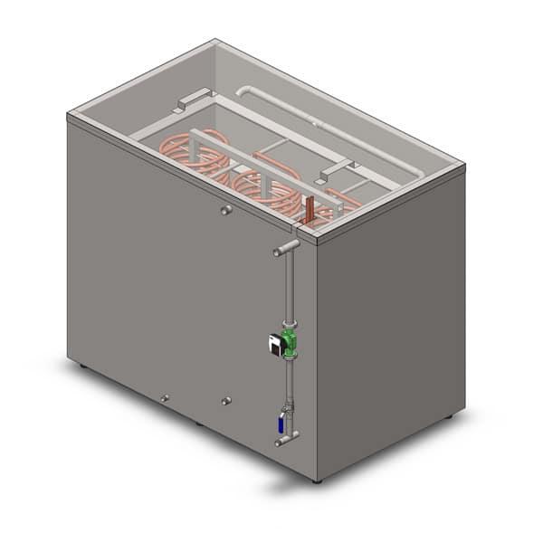 Cooling media storage tanks