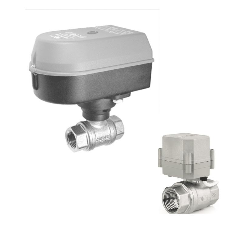 Electric motor valves for tanks