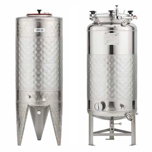 Tangki fermentasi bir silinder