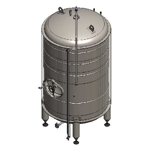 BBTVI - Cylindrical cider conditioning and storage tanks : vertical, insulated, cooled with water