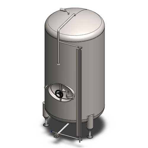 BBTVN - Cylindrical beer conditioning and storage tanks : vertical orientation, non-insulated, cooled with air
