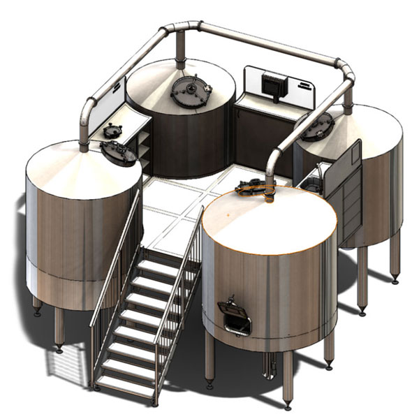 Машини за приготвяне на пивна мъст Breworx Quadrant
