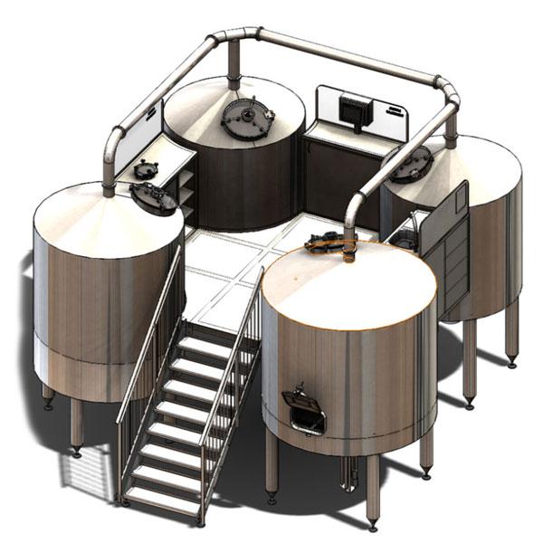 Mesin minuman wort Breworx Quadrant